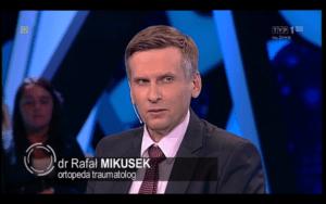 """ortopeda Warszawa Rafał Mikusek w TVP1 """"Świat się kręci"""""""