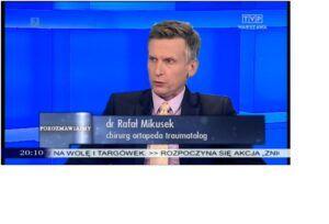 Ortopeda Warszawa Rafał Mikusek w TVP Warszawa