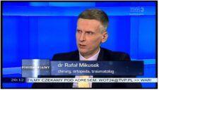 Ortopeda Warszawa Rafał Mikusek w TVP3 Warszawa