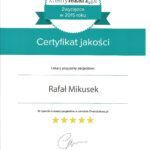 Ortopeda Rafał Mikusek otrzymał certyfikat jakości jako lekarz przyjazny pacjentowi