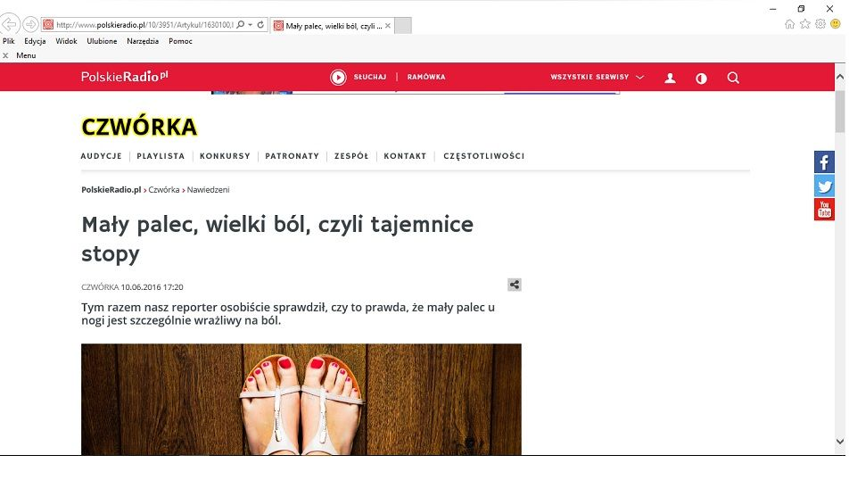 ból stóp - Rafał Mikusek w radiowej Czwórce